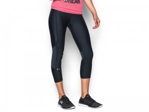 Legginsy damskie Under Armour HeatGear Printed Capri 1297909-003