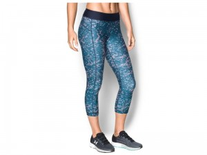 Legginsy damskie Under Armour HeatGear Printed Capri 1297906-953