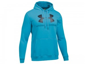 Bluza Męska Under Armour Rival Fleece Fitted Graphic Hoodie 1302294-929