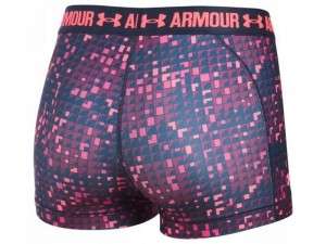 Spodenki damskie Under Armour HeatGear Printed Shorty 1297900-411