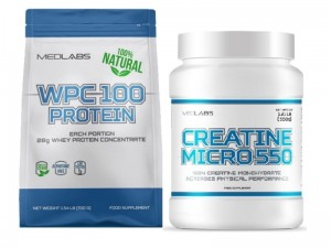 Medlabs WPC 100 Protein Natural 810g + Creatine Micro 550 550g