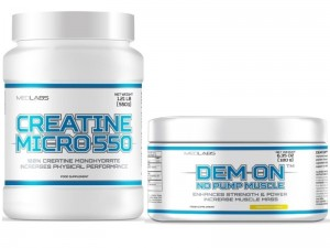 Medlabs Creatine Micro 550 550g + Dem On pre workout 180g