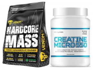 Venom Nutrition Gainer Hardcore Mass 6000g + Creatine Micro 550