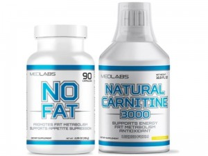 Medlabs NO FAT 90kaps + Natural Carnitine 3000 500ml ZESTAW
